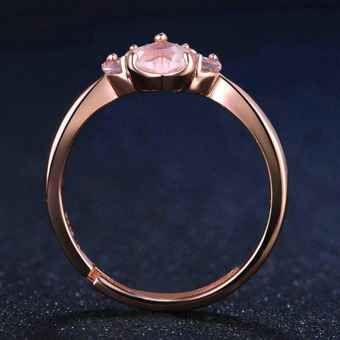 buy Rose Quartz Paw Ring Twisted Wire