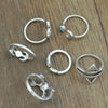 Image of Twisted Wire - Sun & Moon Ring Set 6