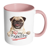 buy Love My Pugaccino Twisted Wire