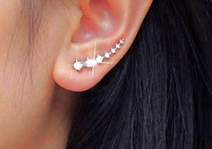 Crystal In-Line Stud Earrings