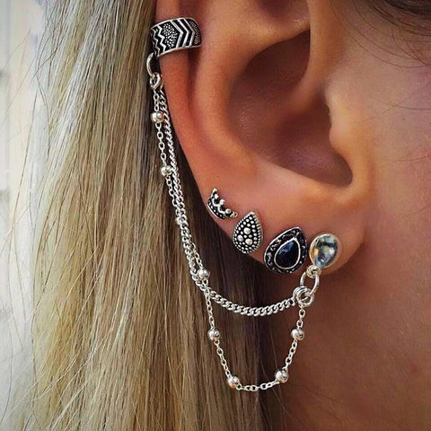 buy Punk Style Earring Sets Twisted Wire
