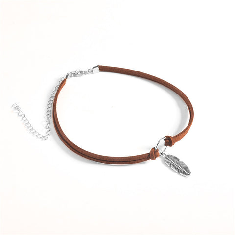 Free-Spirit Leather Necklace