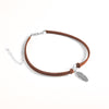 buy Free-Spirit Leather Necklace Twisted Wire