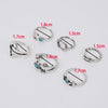 Image of Twisted Wire - Sun & Moon Ring Set 8