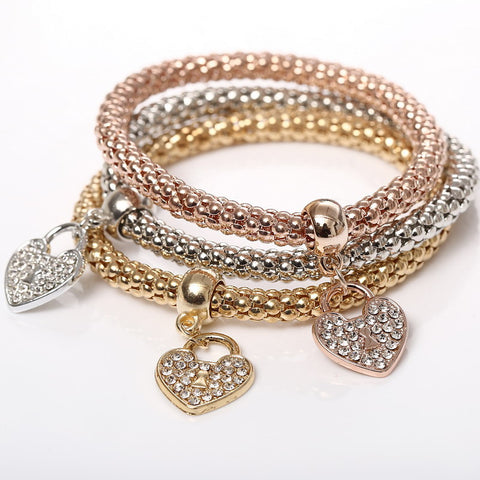 Twisted Wire Bracelet Hearts