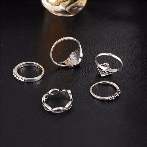 Twisted Wire Vintage Persian Ring Set 6