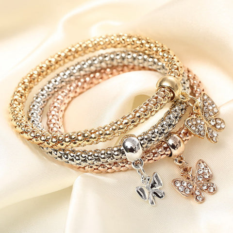 buy Crystal Charm Bracelet Twisted Wire