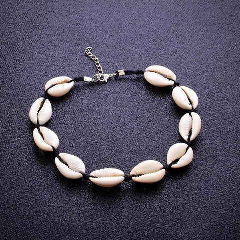 buy Seashell Choker Necklace Twisted Wire