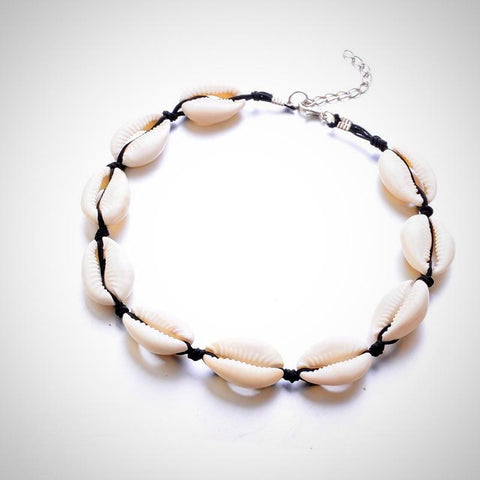 Twisted Wire - Seashell Choker Necklace 4