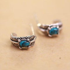 Mystical Turquoise Silver Earrings