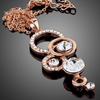 Image of Twisted Wire Rose Gold Plated Pendant Necklace 1