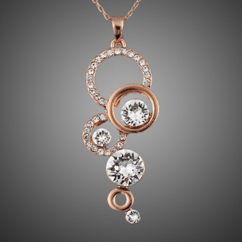 Twisted Wire Rose Gold Plated Pendant Necklace