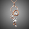 Image of Twisted Wire Rose Gold Plated Pendant Necklace