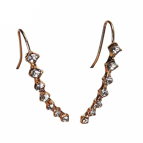 buy Rhinestone Crystal Stud Earrings Twisted Wire
