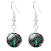 Image of Twisted Wire Tree Moon Earrings 2