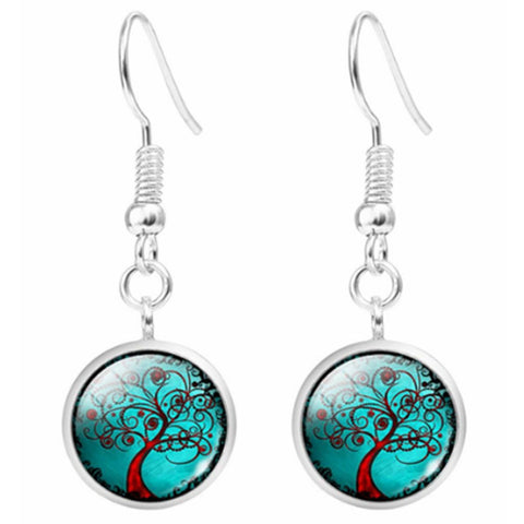Twisted Wire Tree Moon Earrings 3