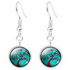 Image of Twisted Wire Tree Moon Earrings 3