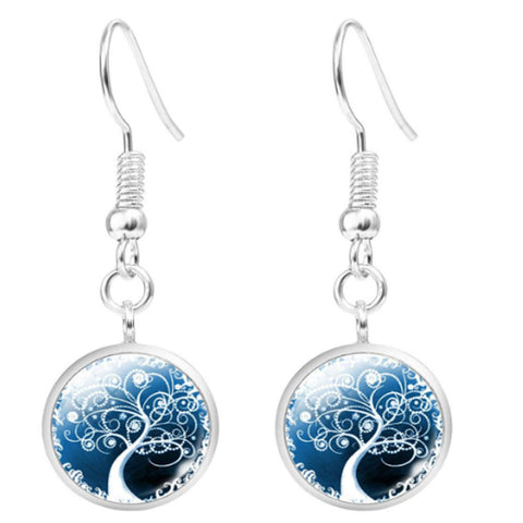Twisted Wire Tree Moon Earrings 5