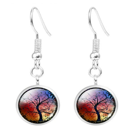 Twisted Wire Tree Moon Earrings 4