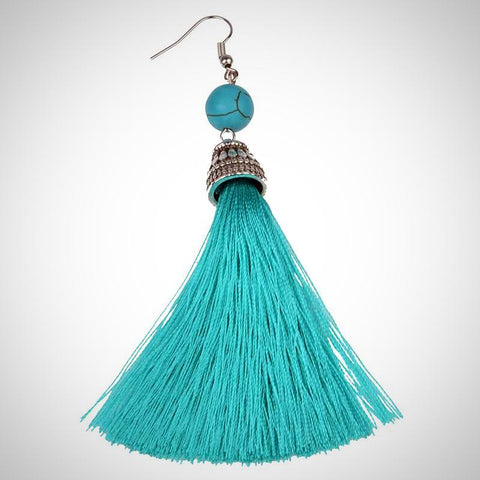 Twisted Wire - Tibetan Tassel Earrings 1