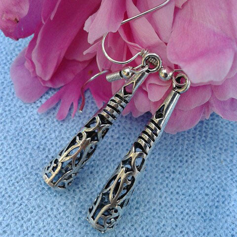 Twisted Wire Vintage Tibetan Earrings 4