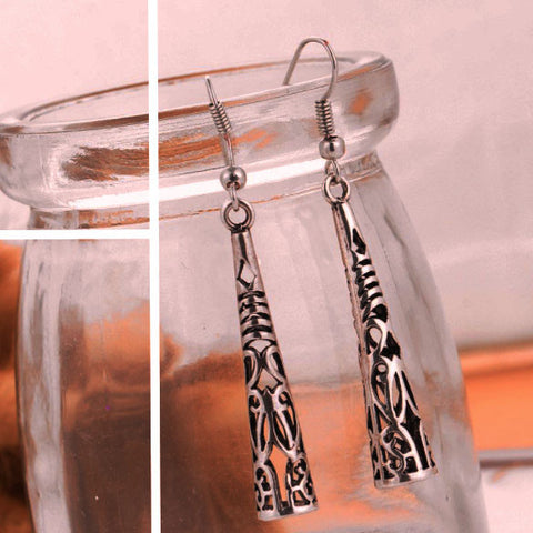 Twisted Wire Vintage Tibetan Earrings