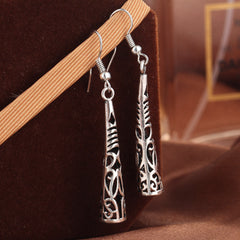 Twisted Wire Vintage Tibetan Earrings 3