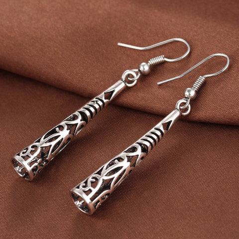 Twisted Wire Vintage Tibetan Earrings 2