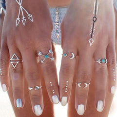 Sun & Moon 6 Piece Ring-Set