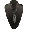 Image of Twisted Wire Dreamcatcher Necklace Silver