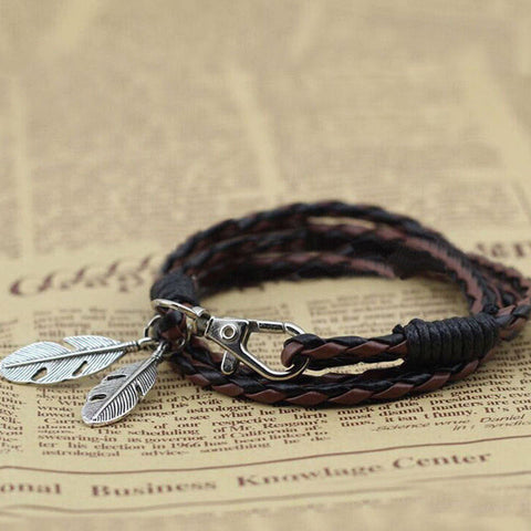 Twisted Wire -  Free-Spirit Feather Bracelet 4