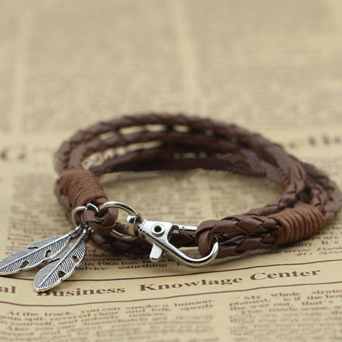 Twisted Wire -  Free-Spirit Feather Bracelet 6