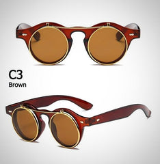 buy SteamPunk Classic Flip Up Sunglasses Men Twisted Wire