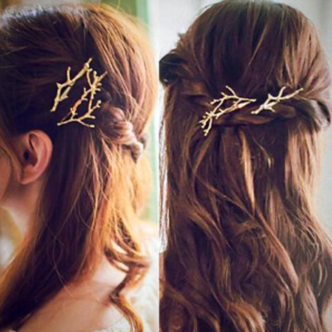 buy Bohemian Tree-Branch Hairpin Twisted Wire