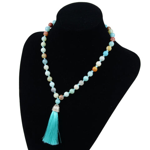 buy Tibetan Tassel Necklace Twisted Wire