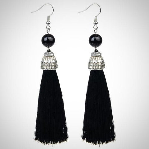Twisted Wire - Tibetan Tassel Earrings 9