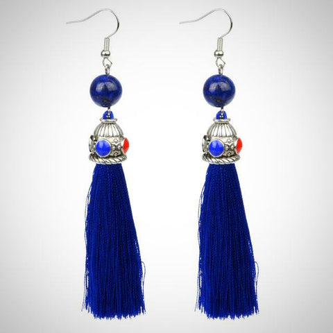 Twisted Wire - Tibetan Tassel Earrings 4