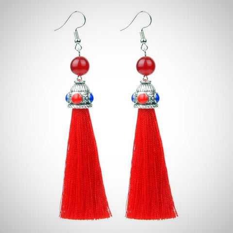 Twisted Wire - Tibetan Tassel Earrings 5