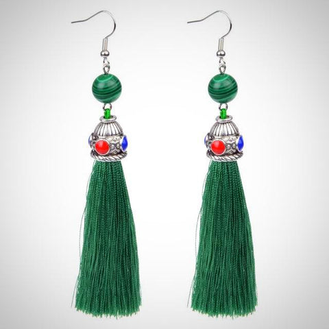 Twisted Wire - Tibetan Tassel Earrings 6