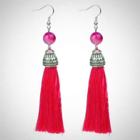 Twisted Wire - Tibetan Tassel Earrings 3