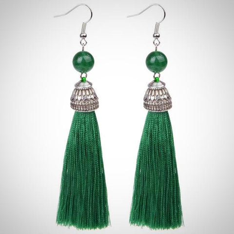 Twisted Wire - Tibetan Tassel Earrings 17