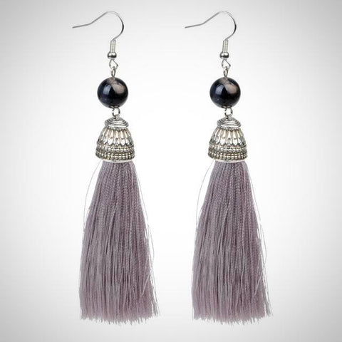 Twisted Wire - Tibetan Tassel Earrings 16