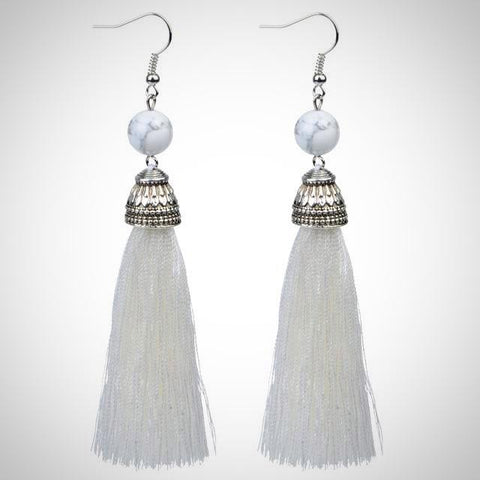 Twisted Wire - Tibetan Tassel Earrings 10