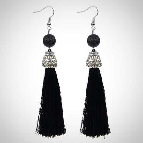 Twisted Wire - Tibetan Tassel Earrings 8