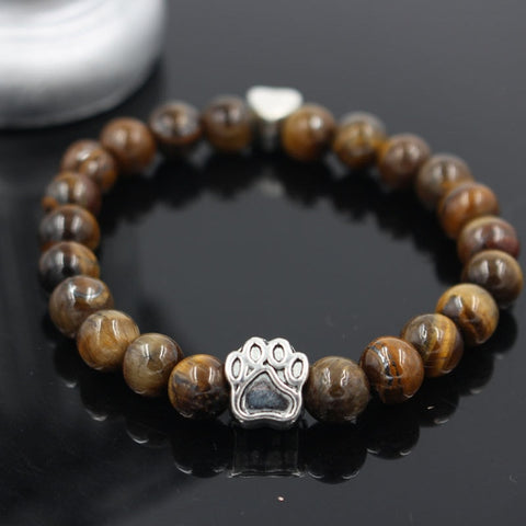 Twisted Wire - Natural Stone Pitbull Bracelet 1