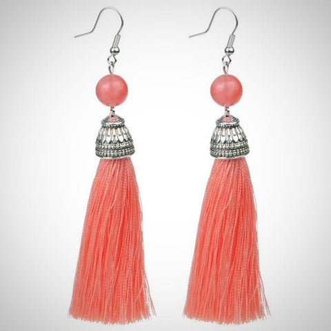 Twisted Wire - Tibetan Tassel Earrings 15