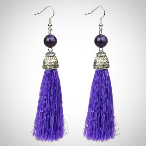 Twisted Wire - Tibetan Tassel Earrings 14