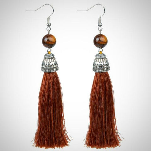 Twisted Wire - Tibetan Tassel Earrings 13