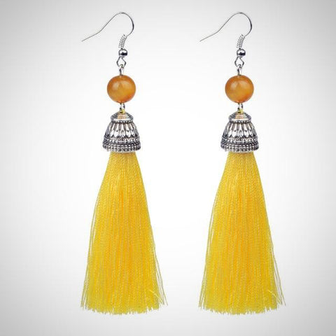 Twisted Wire - Tibetan Tassel Earrings 7