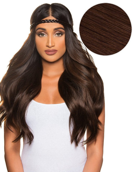 "100% Remy celebrity hair extensions by Khaleesi 280g 20"" Dark Brown (2) - ArabianGlitz"